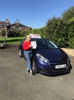 Well done Georgia on passing your test with only 4 driving faults!
